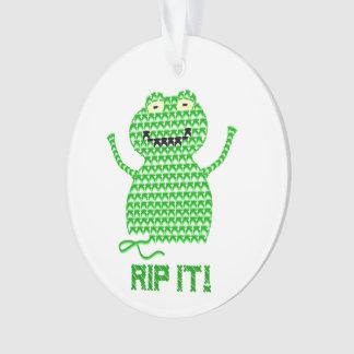 Rip It! Vector Crochet Frog Ornament
