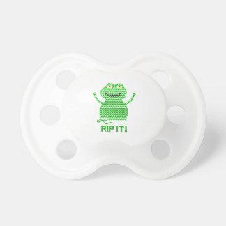 Rip It! Vector Crochet Frog Pacifier
