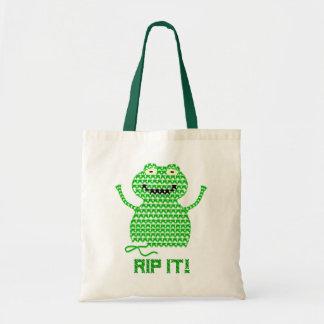 Rip It! Vector Crochet Frog Tote Bag