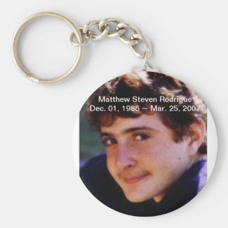 RIP Matthew Stephen Rodrigue Basic Round Button Keychain