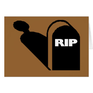 RIP - Rest In Peace Grave Ghost Memorial Card