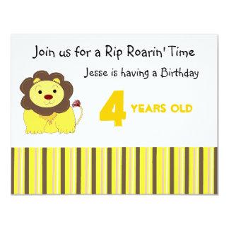 Rip Roarin'  Birthday Invitation