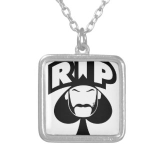 RIP Spade Silver Plated Necklace
