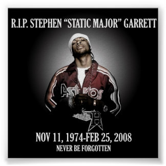 RIP Static Major Poster