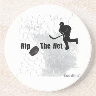 Rip the Net Hockey Coasters