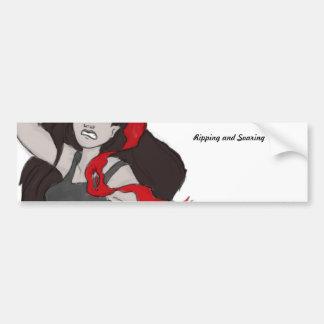 Rip the ribbon bumper sticker