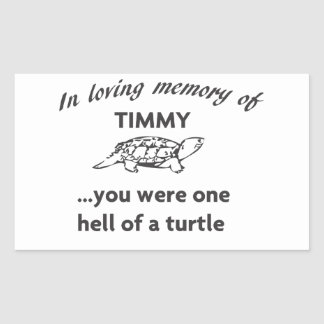 RIP TIMMY RECTANGULAR STICKER