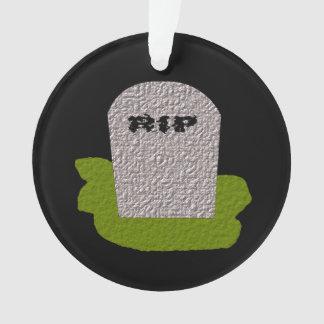 RIP Tombstone Acrylic Ornament