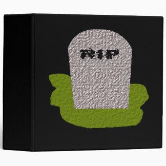 RIP Tombstone Avery Binder