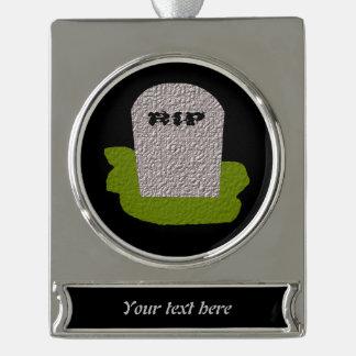 RIP Tombstone Customizable Ornament