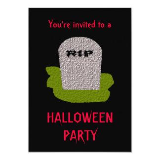 RIP Tombstone Halloween Party Customizable Invitat Card