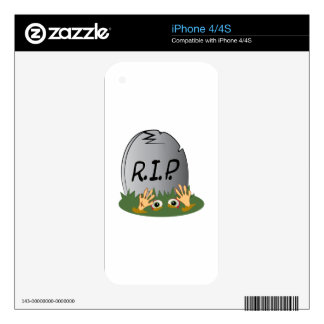 RIP Tombstone iPhone 4 Skins