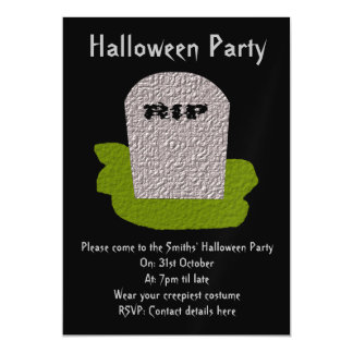 RIP Tombstone Magnetic Party Invites Magnetic Invitations