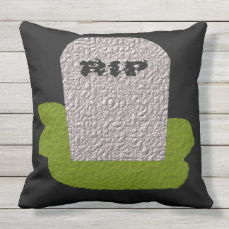 RIP Tombstone Outdoor Pillow