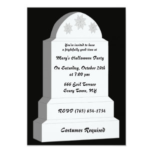 rip tombstone party invitation