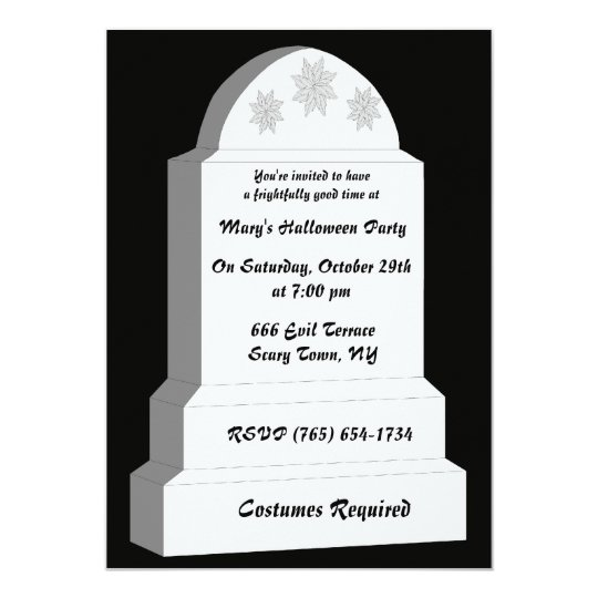 Tombstone invitations announcements zazzle rip tombstone party invitation stopboris Gallery