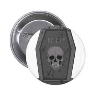 RIP Tombstone Pinback Button