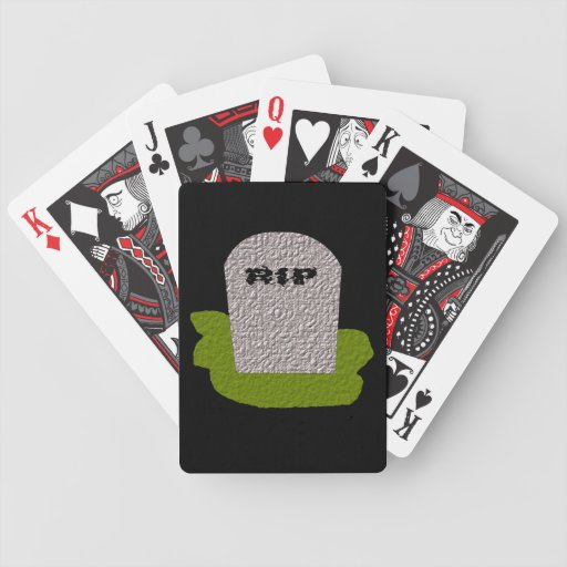 RIP Tombstone Playing Cards
