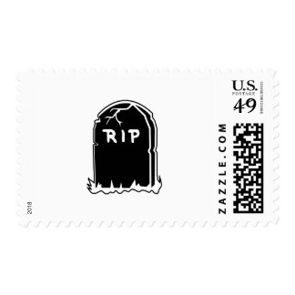 RIP Tombstone Postage