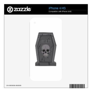 RIP Tombstone Skins For iPhone 4S