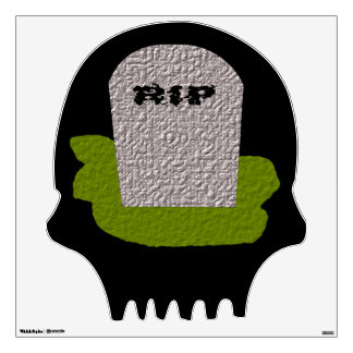 RIP Tombstone Skull Wall Decal