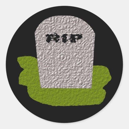 RIP Tombstone Sticker