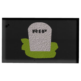 RIP Tombstone Table Card Holder
