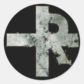 RIP\TORN Cross Sticker