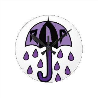 RIP Umbrella Round Clock