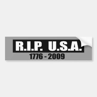 RIP USA - 1776 TO 2009 CAR BUMPER STICKER