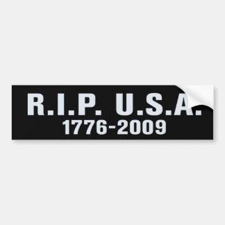 RIP USA Bumper Sticker Car Bumper Sticker