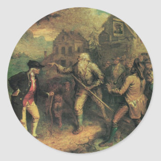 Rip Van Winkle in the Village Square Classic Round Sticker