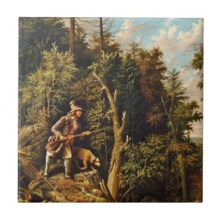 Rip Van Winkle with His Hound Ceramic Tile