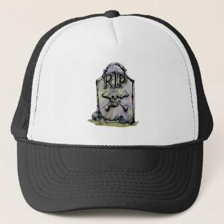 RIP Watercolor Gravestone or Tombstone Trucker Hat