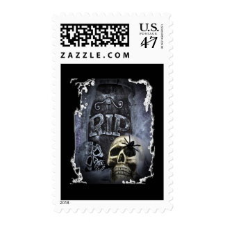 RIP with Skull Postage