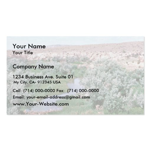 Riparian Habitat, Wyoming Business Card Template