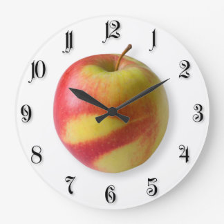 Ripe apple large clock