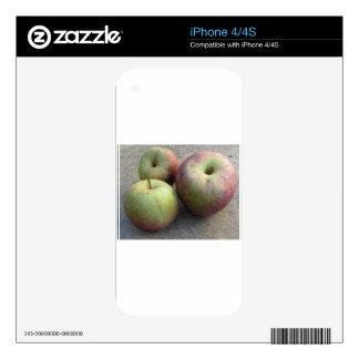 Ripe apples iPhone 4 decals