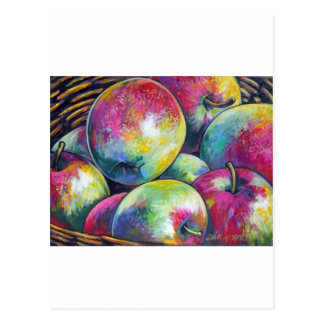 ripe apples postcard