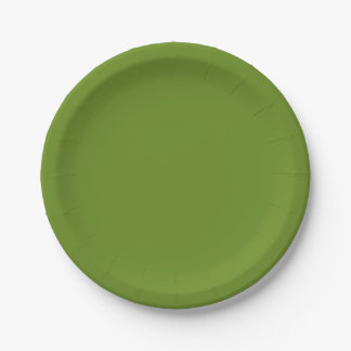 Ripe Asparagus-Colored Paper Plates 7 Inch Paper Plate