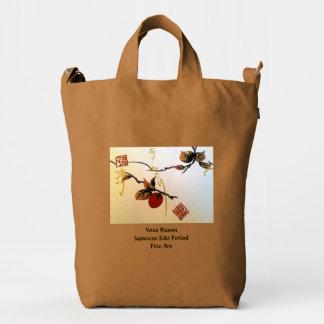Ripe Cherry on Branch Duck Bag