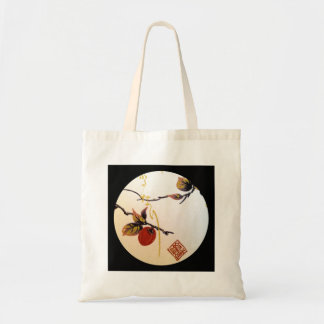 Ripe Cherry on Branch Tote Bag