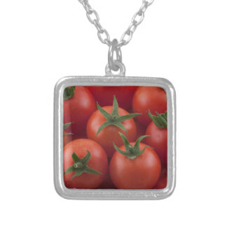 Ripe Garden Cherry Tomatoes Silver Plated Necklace