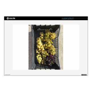 """Ripe grapes in box 15"""" laptop skin"""