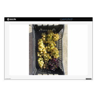 "Ripe grapes in box 17"" laptop skins"