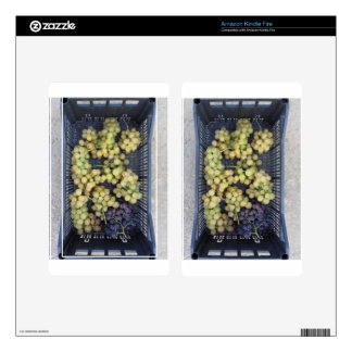 Ripe grapes in box decal for kindle fire