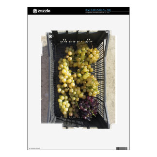 Ripe grapes in box decals for iPad 2
