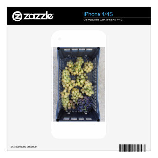 Ripe grapes in box decals for iPhone 4S