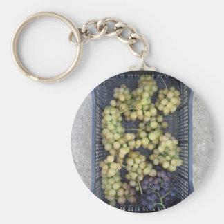 Ripe grapes in box keychain