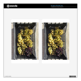Ripe grapes in box kindle fire decal